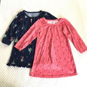 EUC 2 Carters Long-sleeve Nightgowns